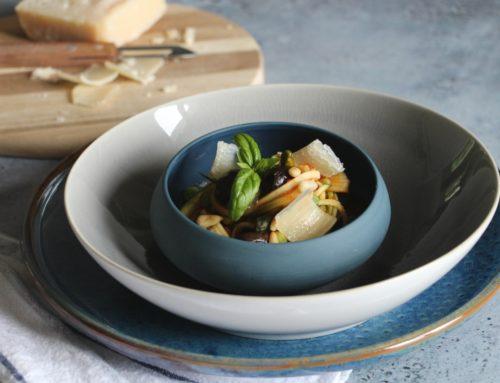 Spaghettis de Courgettes et Olives